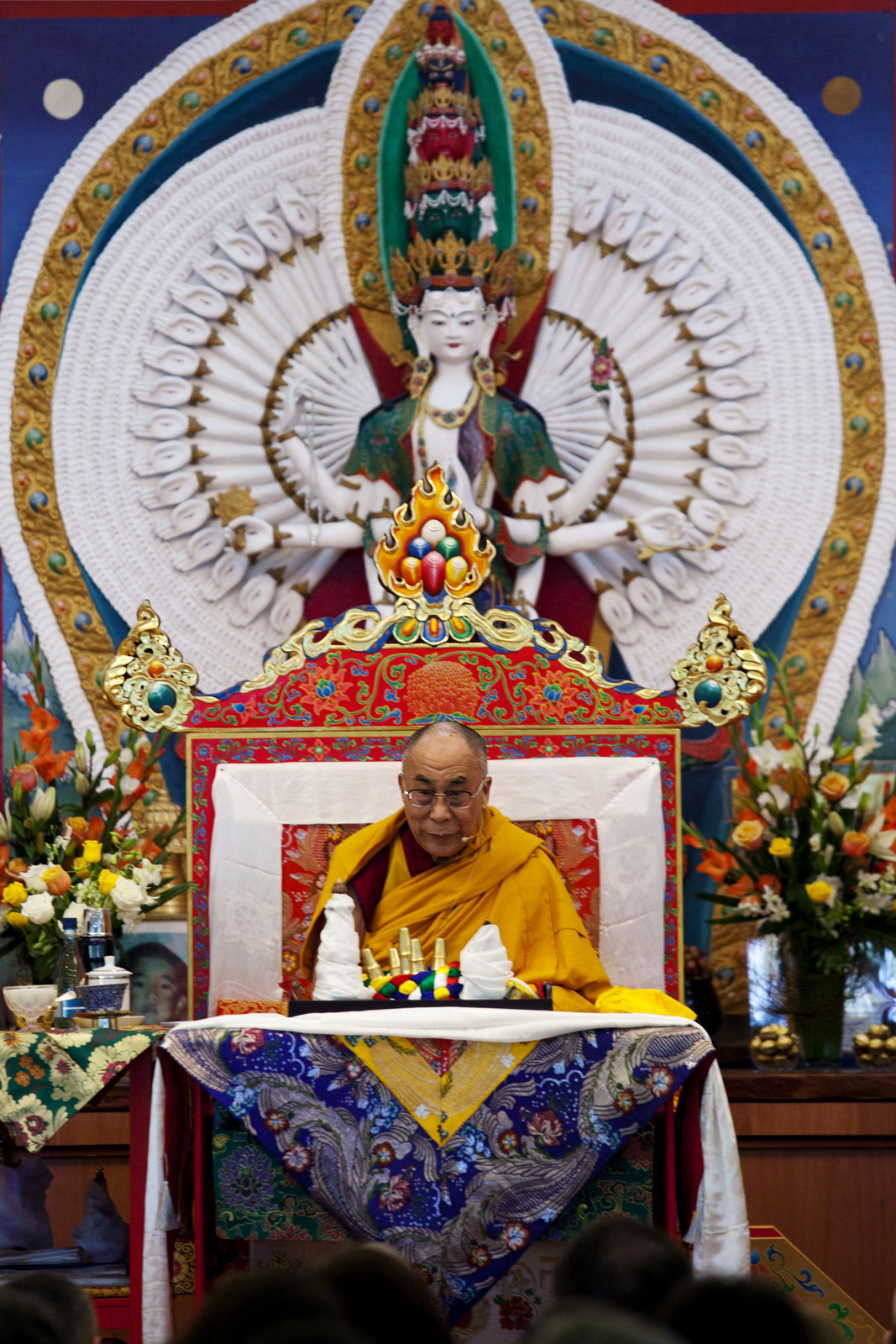 His Holiness the Dalai Lama at Chenrezig Institute, Australia, 2014. (Photo Bonnie Jenkins)