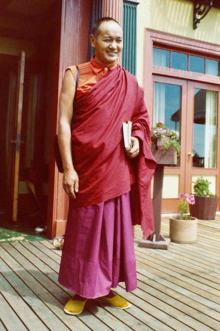 Lama Yeshe in Berkeley, California, 1974. (Photo donated by Judy Weitzner)
