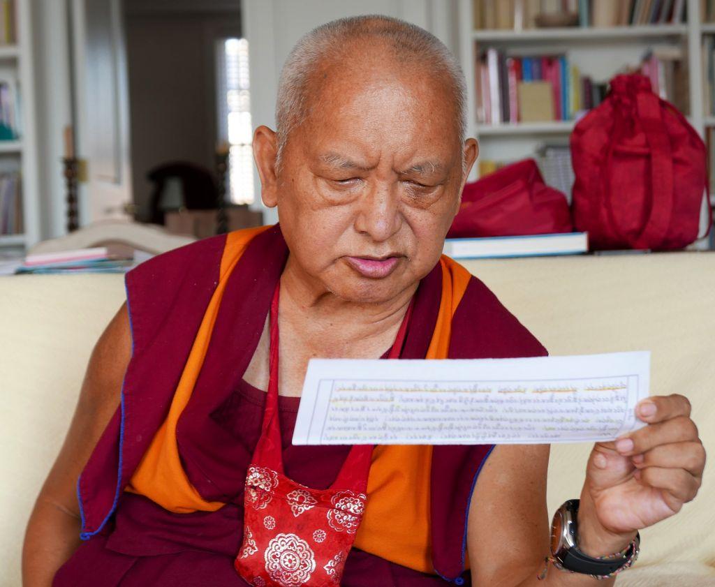 Reciting the Sangata Sutra, New York, 2016. (Photo Ven Roger Kunsang)