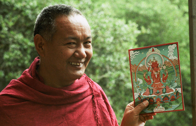 Lama Yeshe at Vajrapani Institute, 1983. (Photo by Age Delbanco)