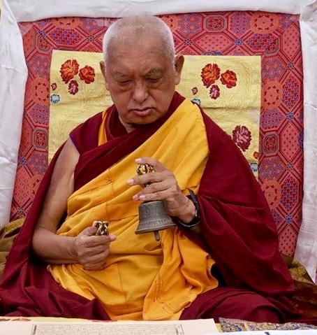 Lama Zopa Rinpoche, Boudha Stupa, Nepal, 2017. (Photo Bill Kane)
