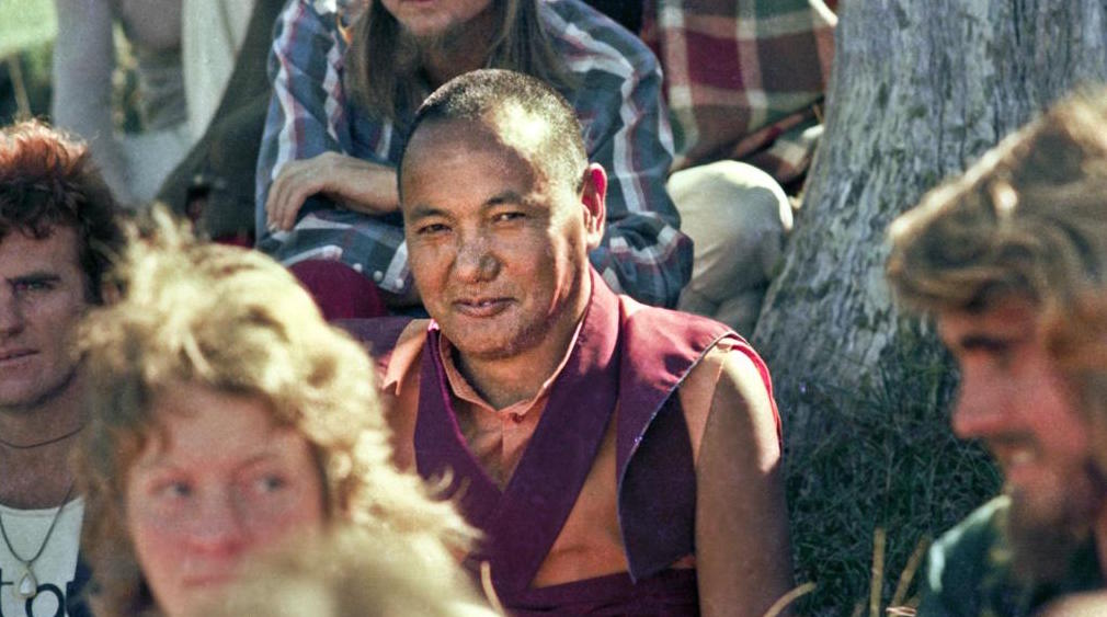 Lama Yeshe with students at Chenrezig Institute, Australia, 1975. (Photo by Wendy Finster)