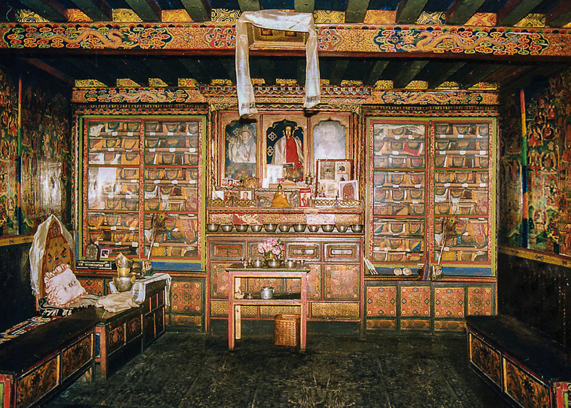 Sherpa family shrine room, Namche Bazaar