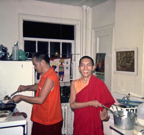 Lama Yeshe and Lama Zopa Rinpoche, New York City, 1974. Photo: LYWA