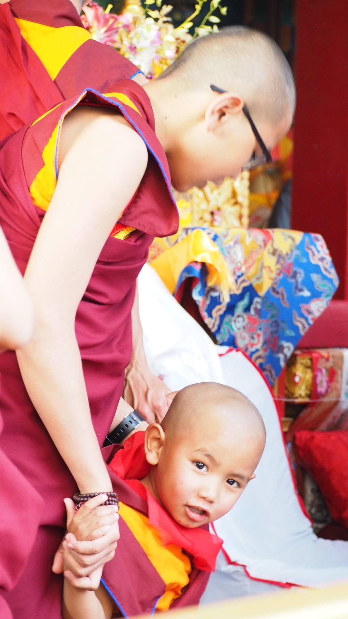 The reincarnation of Kopan abbot Lama Lhundrup with his brother the reincarnation of Geshe Lama Konchog. (Photo Ven Tenzin Tsultrim)