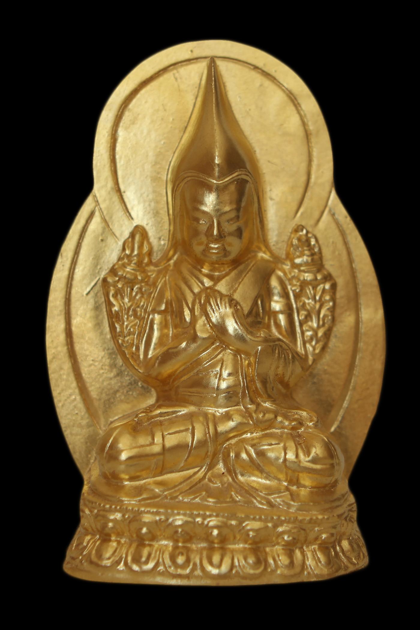 Lama Tsongkhapa tsa tsa from an image made by the late Domo Geshe Rinpoche. (Photo Ven Sarah Thresher)