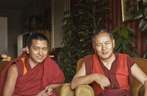 Lama Yeshe and Lama Zopa Rinpoche, Geneva, Switzerland, 1983. (Photos Ueli Minder)