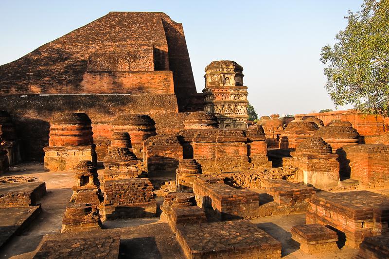The ruins ofancientstupas at the greatNalandamonastery, India. (Photo Ven Sarah Thresher)
