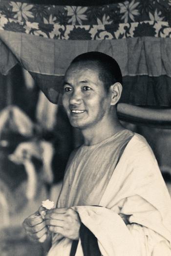 Lama Yeshe after the Sixth Meditation Course atKopan Monastery, Nepal, 1974. (Photo by Ursula Bernis)
