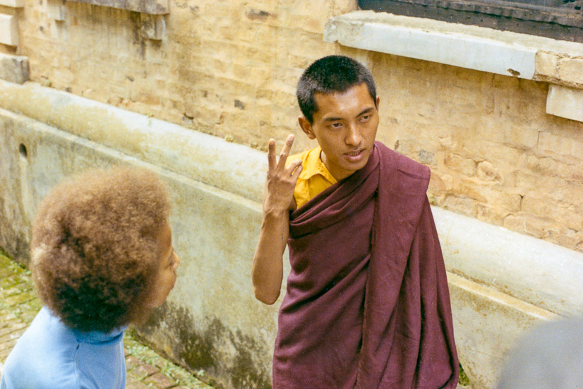 Jan with Rinpoche, Kopan, 1969