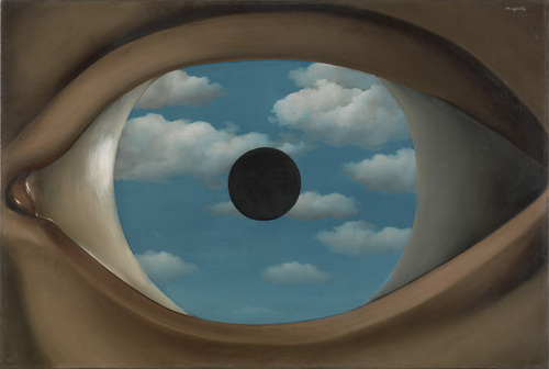 Rene Magritte. The False Mirror. 1928. Painting.