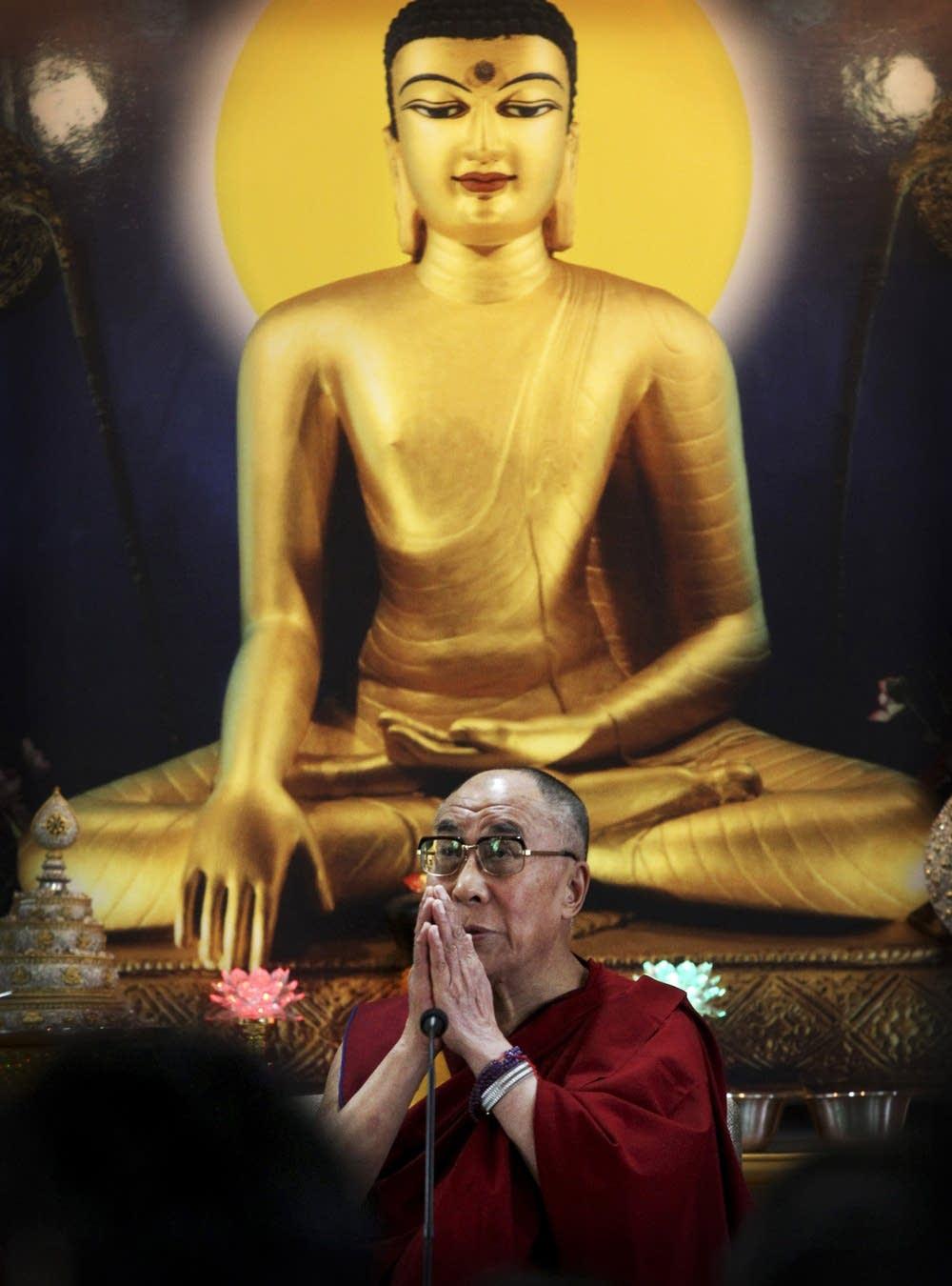 Shakyamuni Buddha and His Holiness the Dalai Lama