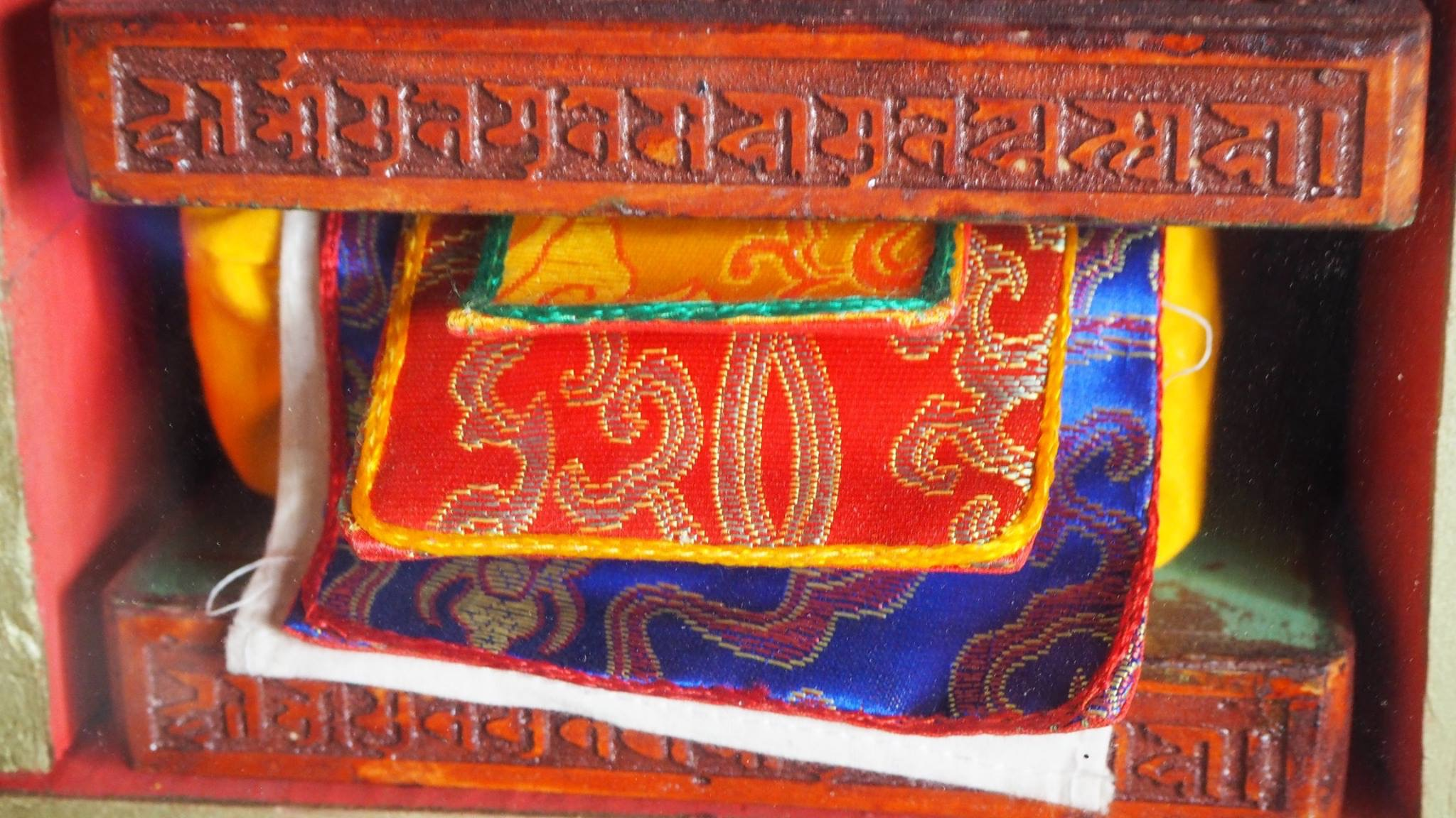 Tibetan text, wrapped and protected. (Ven Tenzin Tsultrim)
