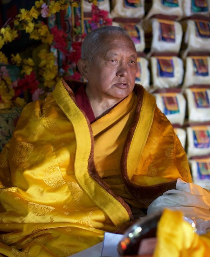 Lama Zopa Rinpoche Solo Khumbu, Lawudo gompah,2015. Photo Bill Kane.