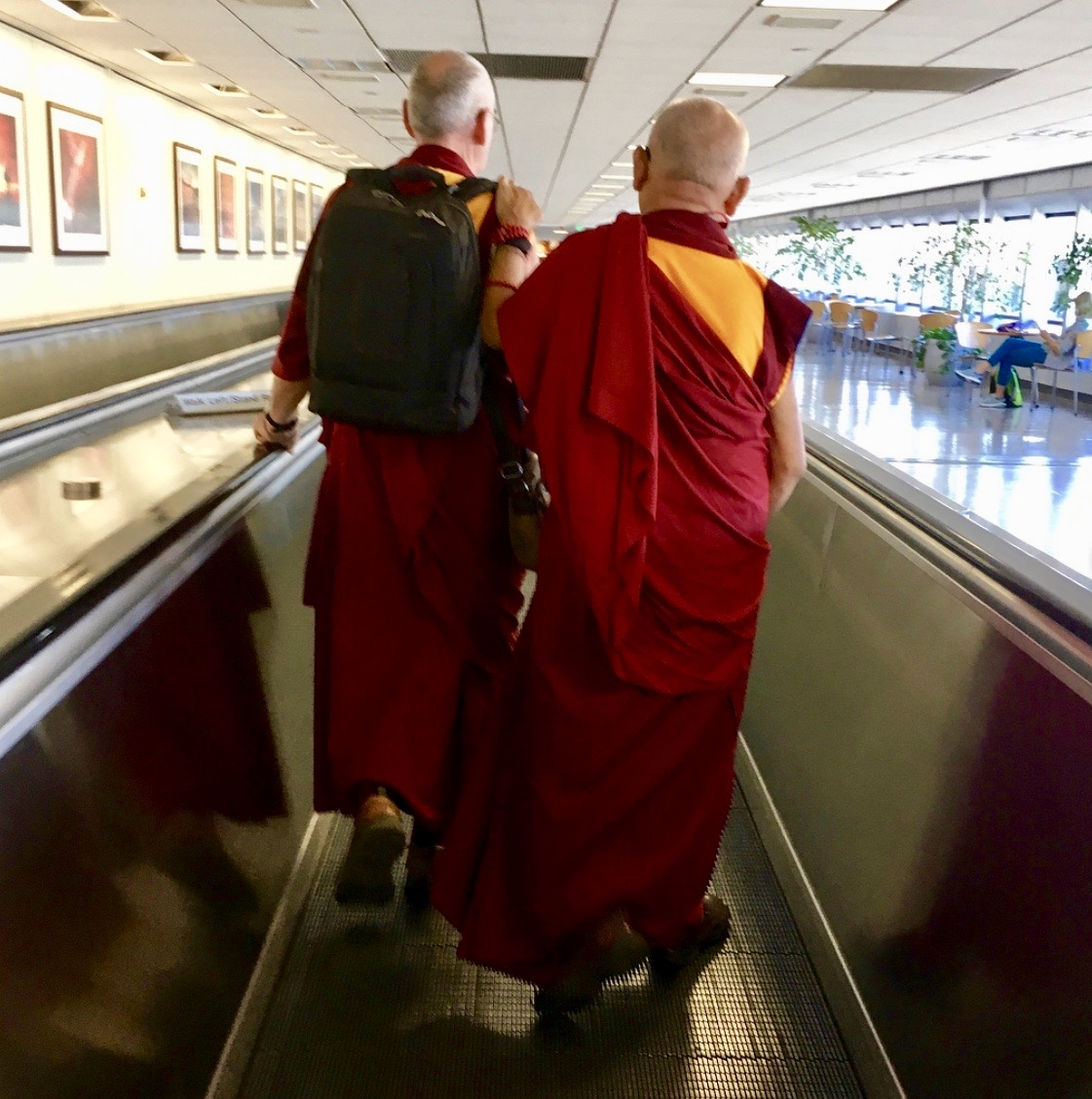 Lama Zopa Rinpoche traveling to Boston to give teachings, August 2018. (Photo Ven Losang Sherab)