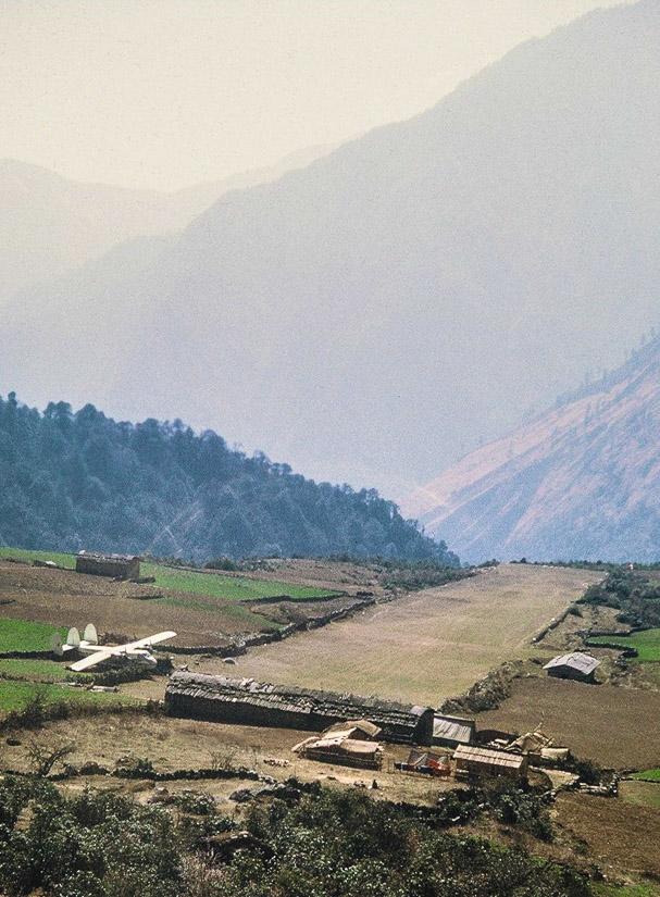 Lukla airstrip, ca 1972