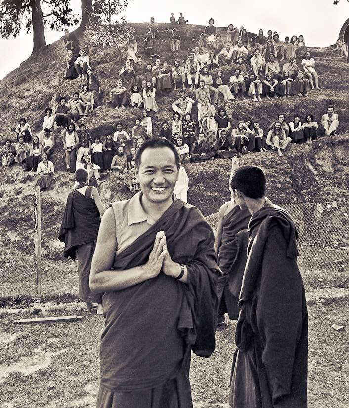 Lama Yeshe at the 1973 springKopan Lam-rimcourse in Kathmandu, Nepal. (Photo LYWA)