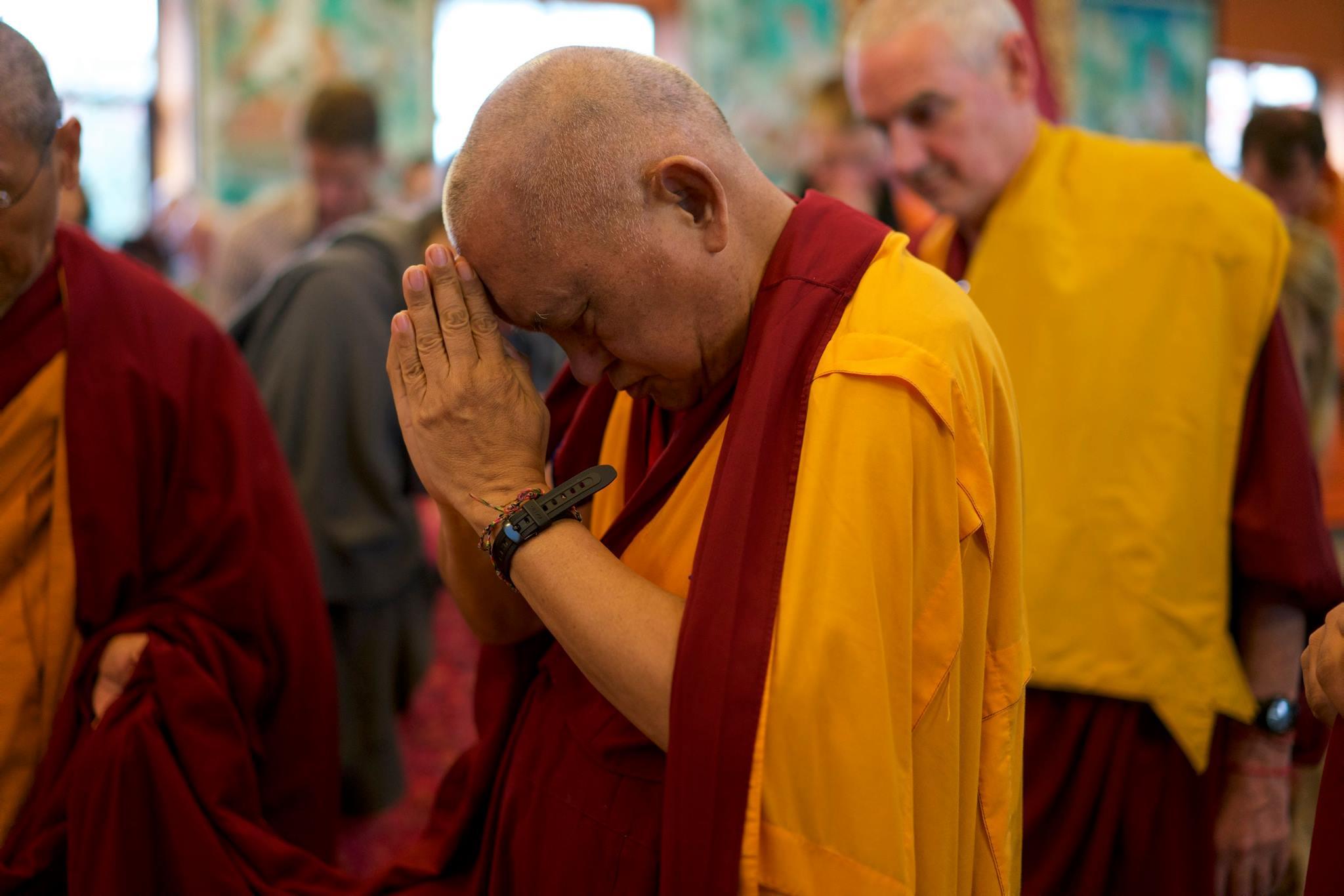Lama Zopa Rinpoche at Kopan, 2015. (Photo Bill Kane)