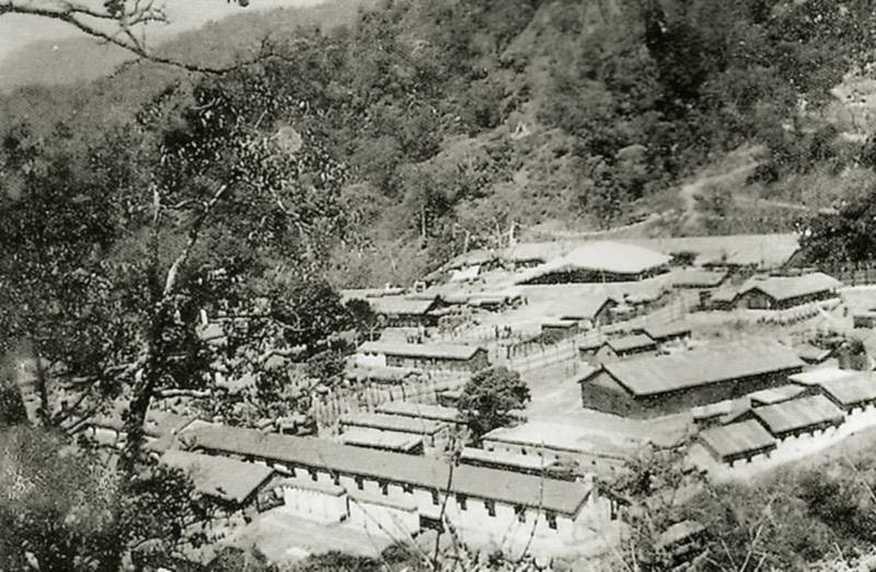 Buxa Duar, West Bengal, the former concentration camp where Gandhiji and Pandit Nehru were imprisoned by the British that became one of the first monasticinstitutions for Tibetans in exile. (Photo The Tibet Museum Photographic Archive)
