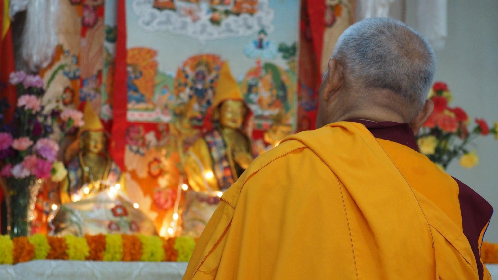 Lama Zopa Rinpoche, Bangalore, South India.(Photo Ven Tenzin Tsultrim)