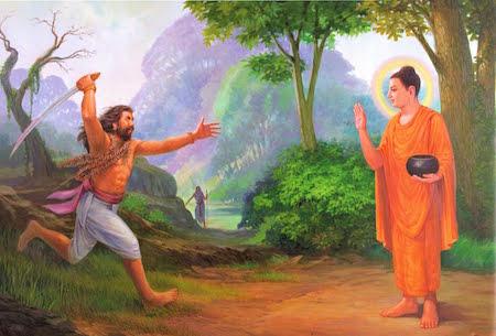 Angulimala meets the Buddha