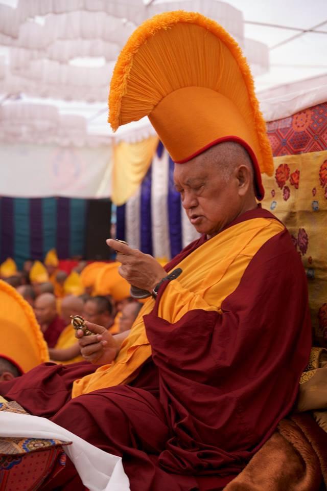 Lama Zopa Rinpoche, Boudha stupa,Nepal, 2017. (Photo Bill Kane)