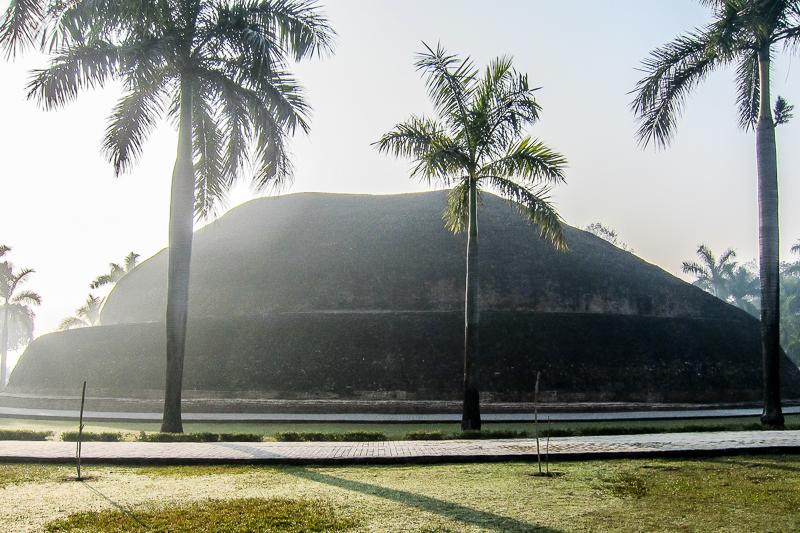 The Ramabhar Stupa where Buddha was cremated,Kushinagar, India. (Photo Ven Sarah Thresher)