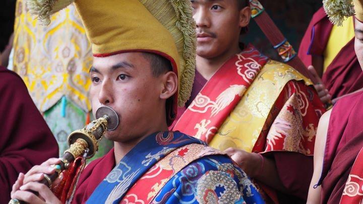 Kopan monks at the Great PrayerFestival, Kopan,2017. (Photo Ven Tenzin Tsultrim)