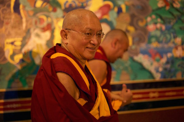 Lama Zopa Rinpoche, Kopan 2015. (Photo Bill Kane)