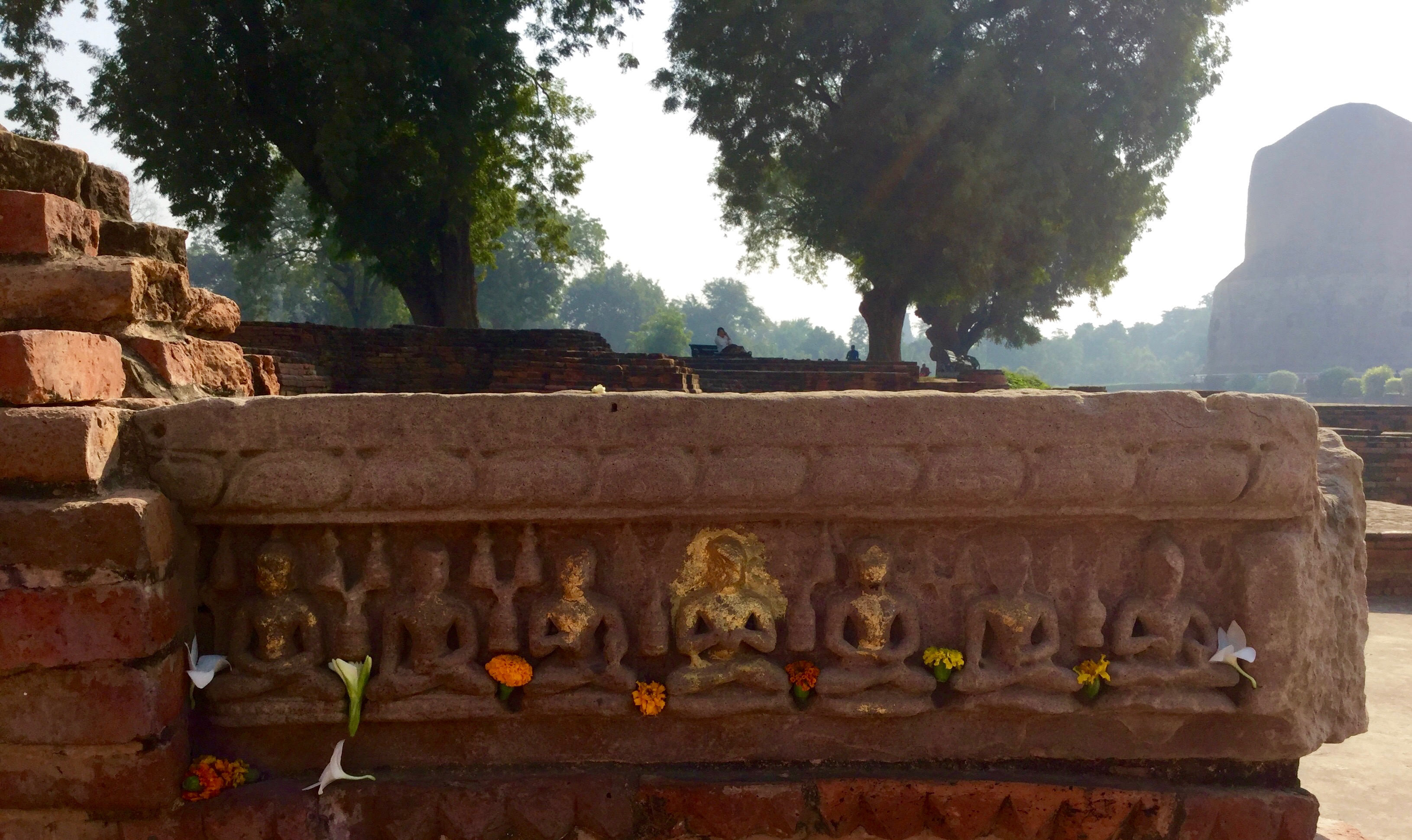 Ruins of monasteries, temples and stupas at Sarnath, India where theBuddha first turned the Wheel of Dharma. (Photo Ven Sarah Thresher)