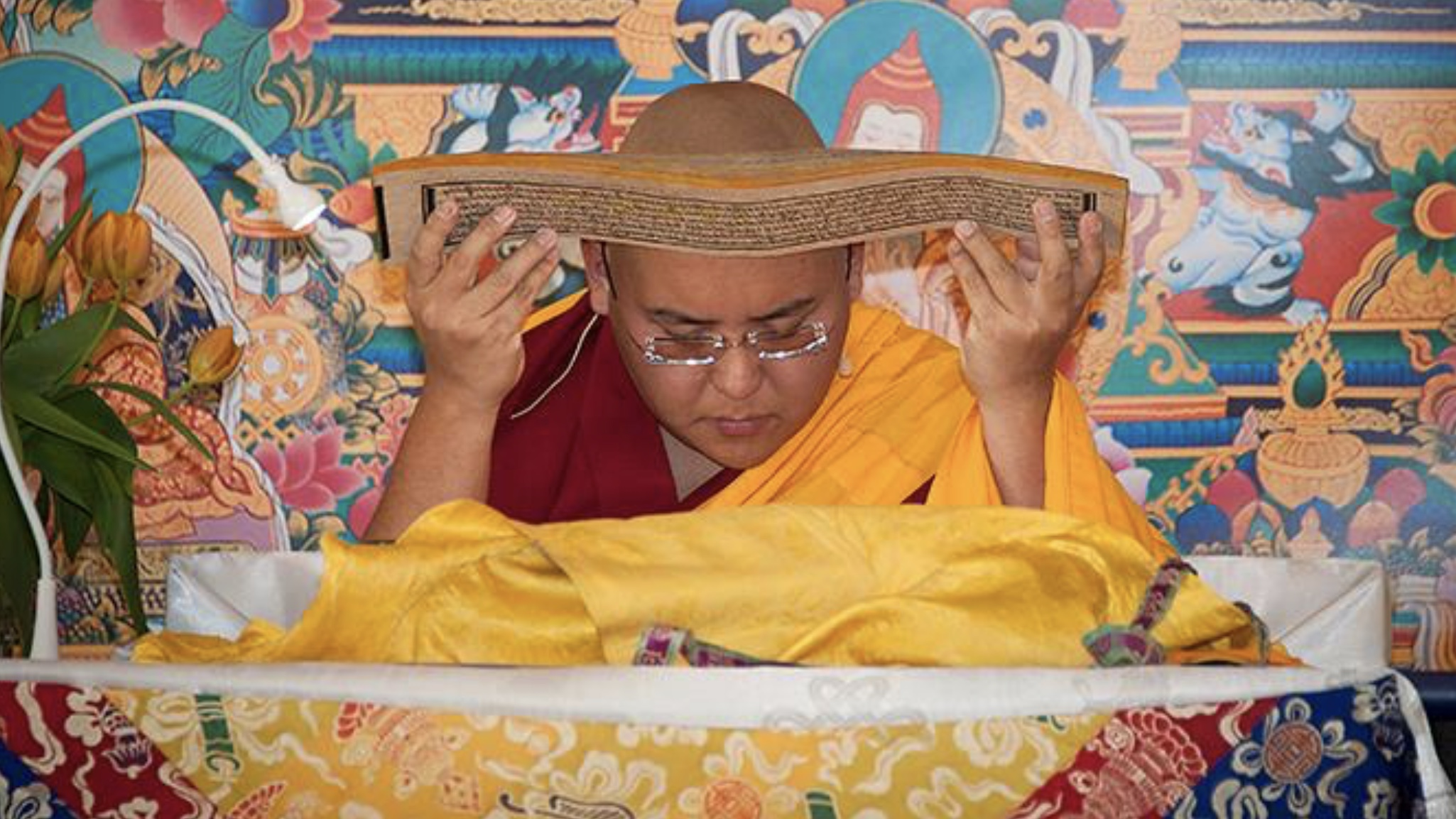 His Eminence Ling Rinpoche, incarnation of His Holiness the Dalai Lama's Senior Tutuor, teaching at Istituto Lama Tsong Khapa, Italy, 2018. (Photo Piero Sirianni)
