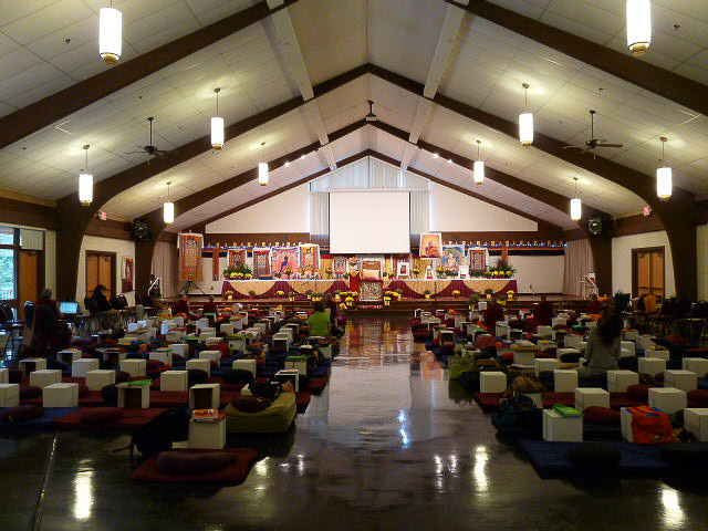 A view of the venue for the 2009Light of the Pathretreat where these teachings were given. (PhotoSarah Brooks)