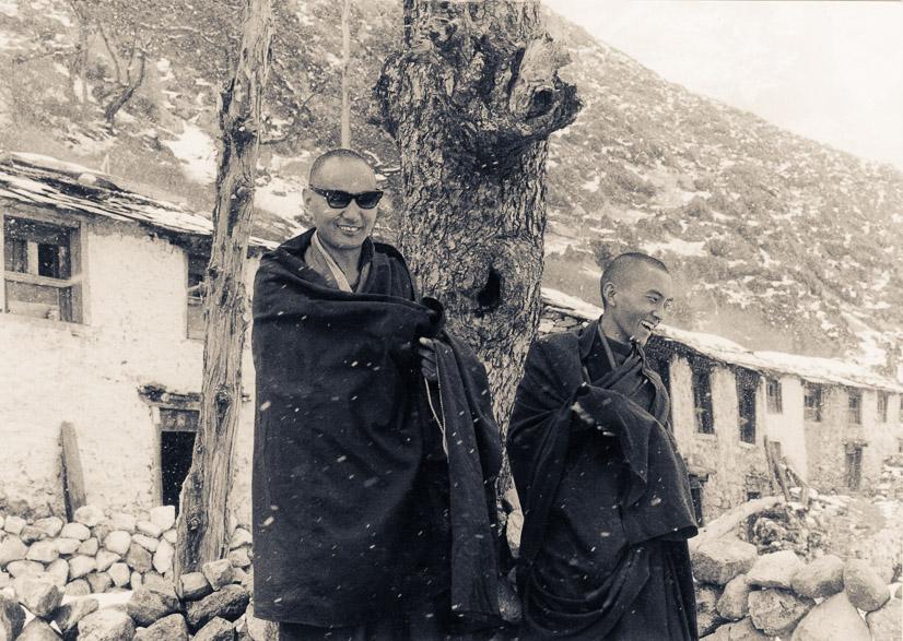 The lamas, Solu Khumbu, 1969