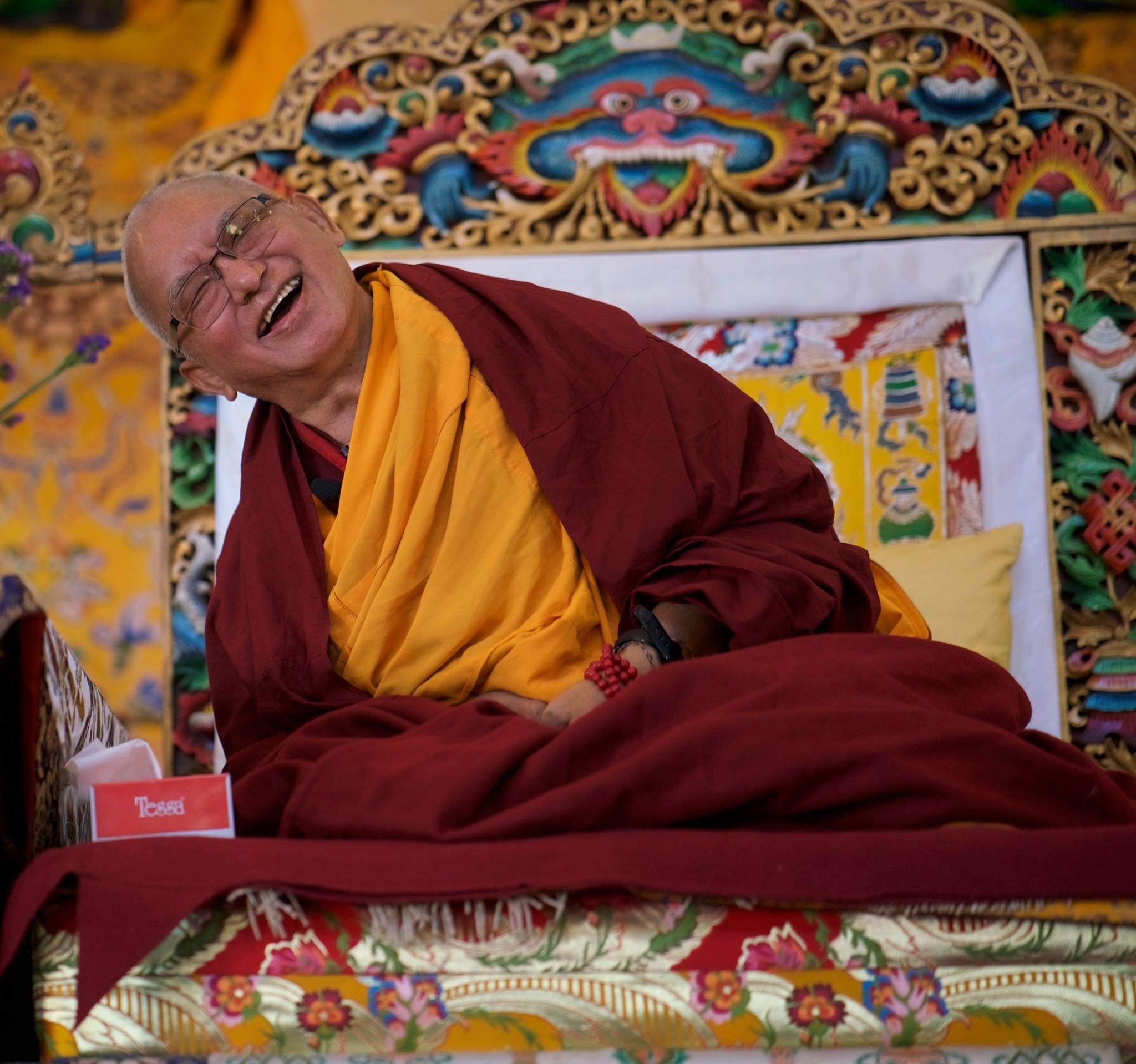Lama Zopa Rinpoche at Kopan 2017. (Photo Bill Kane)