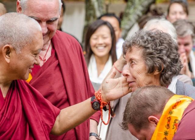 Lama Zopa Rinpoche at Land of Medicine Buddha, California, 2014. (Photo Chris Majors)