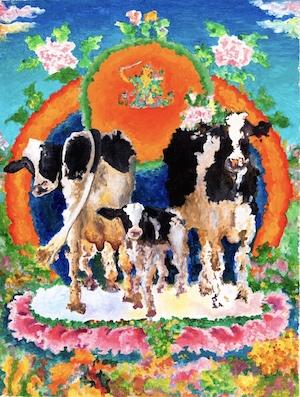 Moo-cows and babybyKarma Phuntsok