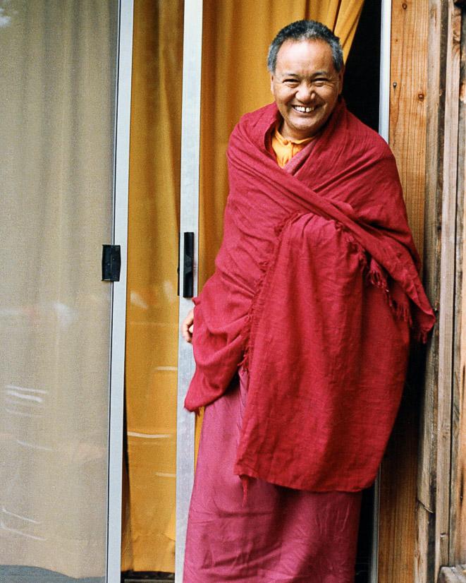 Lama Yeshe at Vajrapani Institute, 1983.(Photo by Age Delbanco)