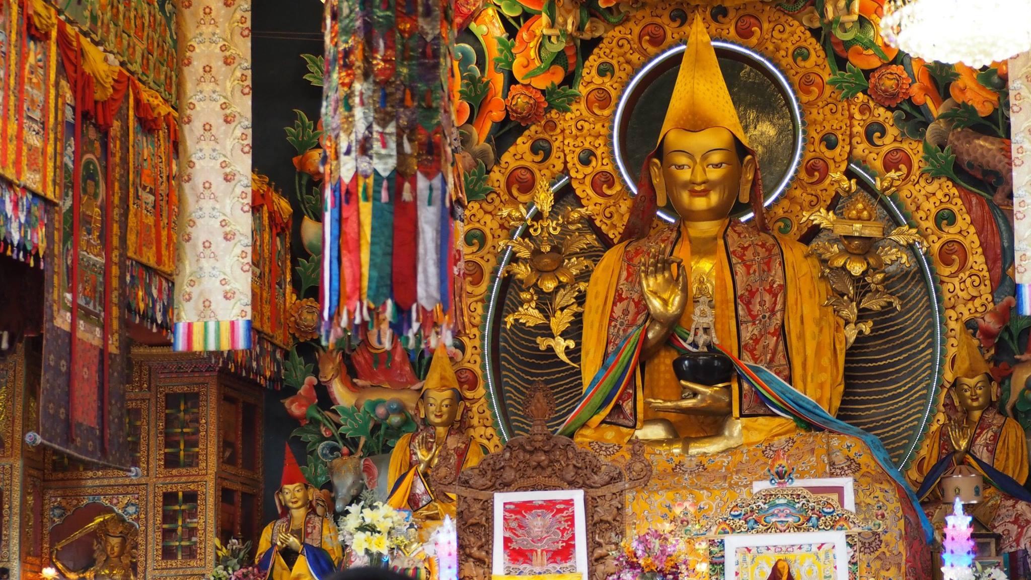 Lama Tsongkhapa as the main statue in Kopan gompah, Nepal. (Photo Ven Tenzin Tsultrim)