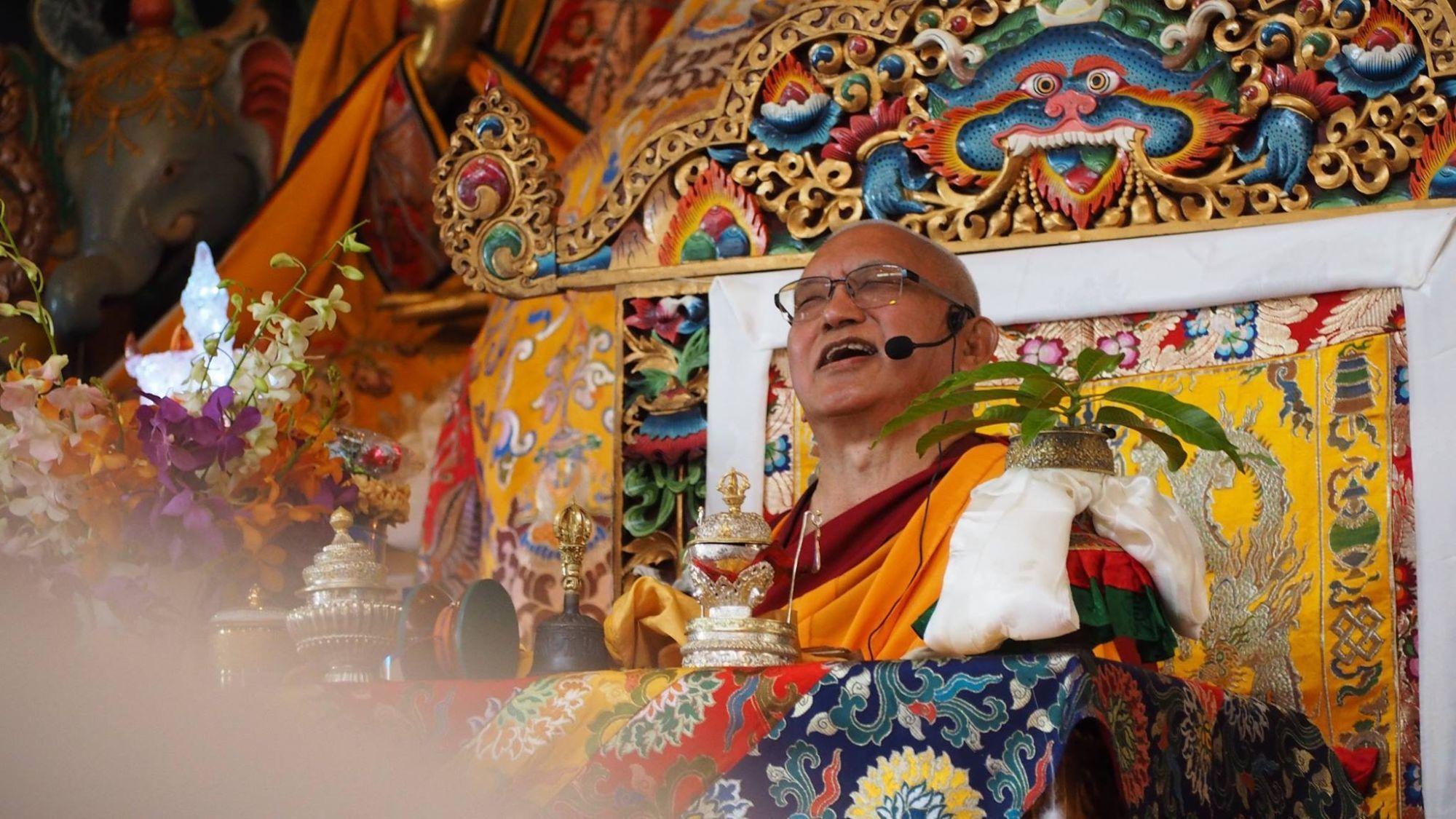 Lama Zopa Rinpoche at Kopan, Nepal, 2017. (Photo Ven Tenzin Tsultrim)