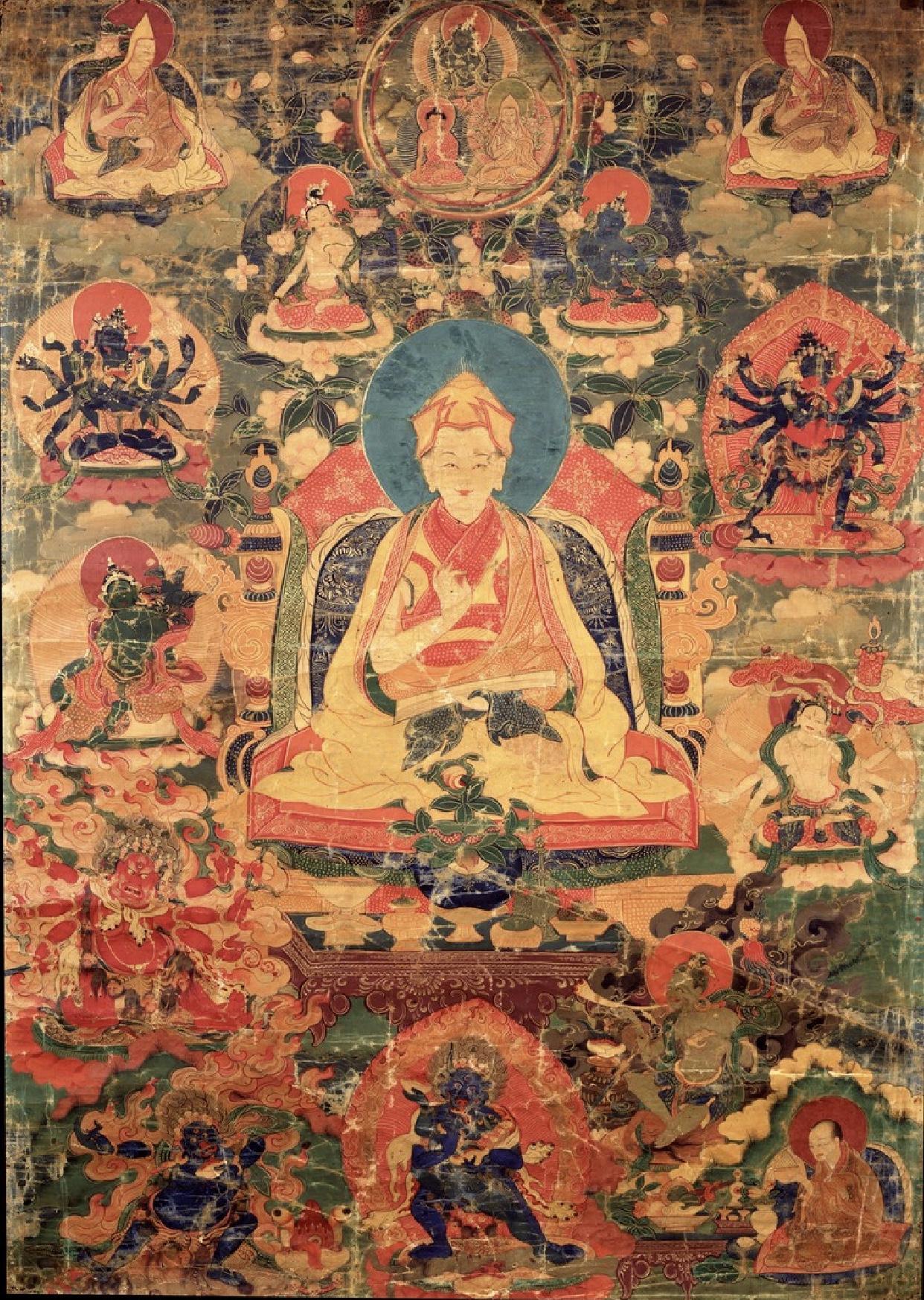 Panchen LosangChökyi Gyaltsen. (Photo© 2018 Himalayan ArtResources Inc. Photographed Image Copyright © 2004 Rubin Museum ofArt)